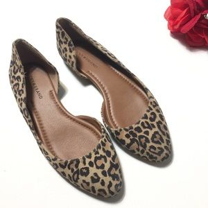 Lucky Brand Cheetah Print Flat Shoes